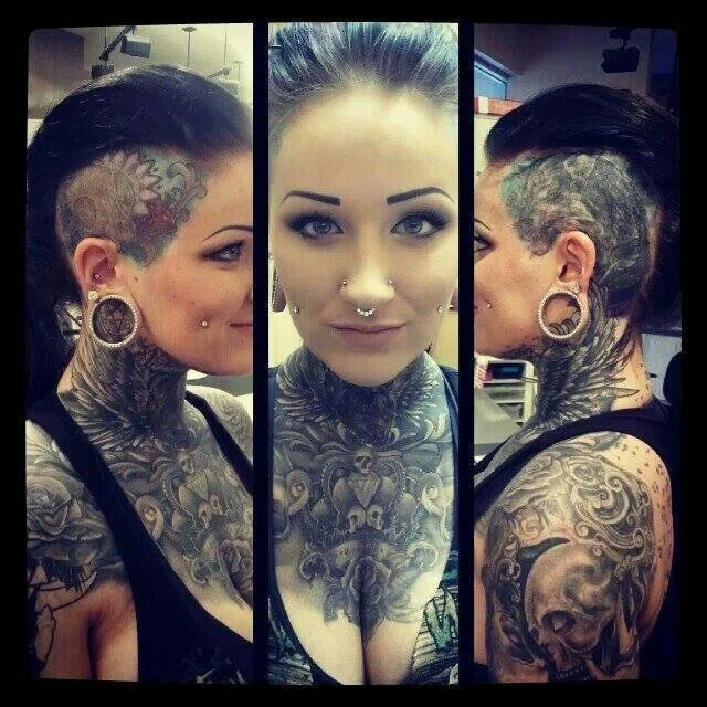 dimple piercing and tattoo