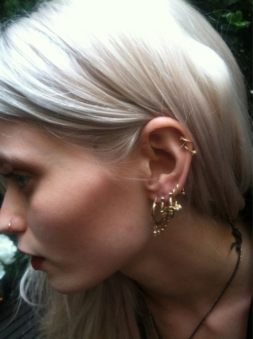 Double Helix Ring for Blonde Girl
