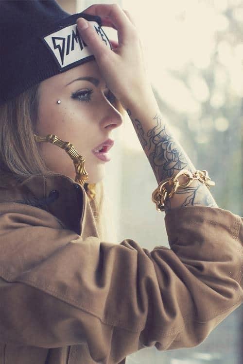 Amazing Dermal Anti Eyebrow Piercing for Her