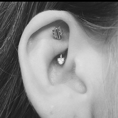 Rook Piercing And Tragus
