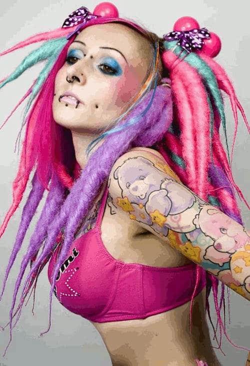 septum piercing colored hair