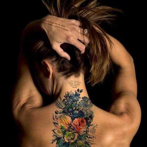 Temporary Tattoos Neck