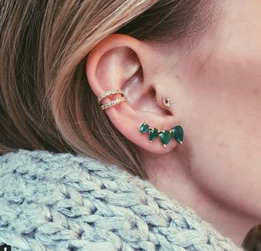 Double Circular Conch Piercing