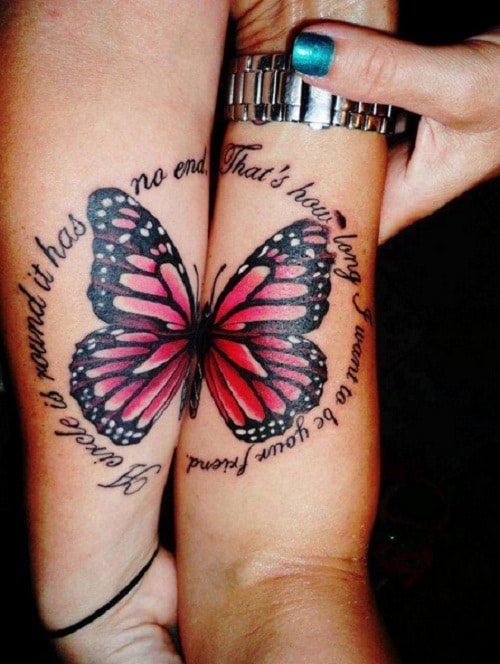 Butterfly Couples Tattoos Quotes
