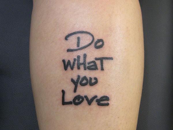 love tatoo quote