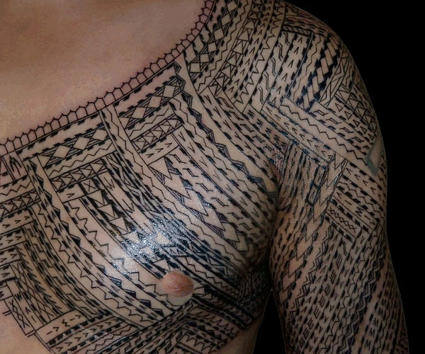 samoan shoulder tattoo