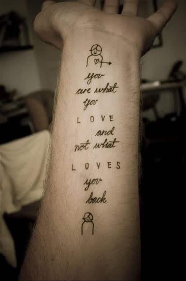 tattoo quotes love