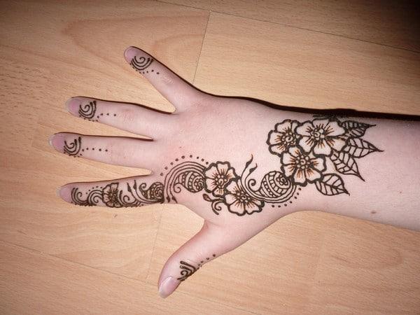 Awesome Henna Flowers Tattoo