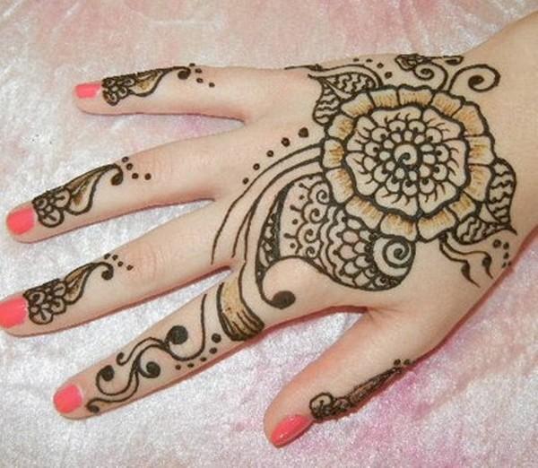 Beautiful Henna Hand Tattoo