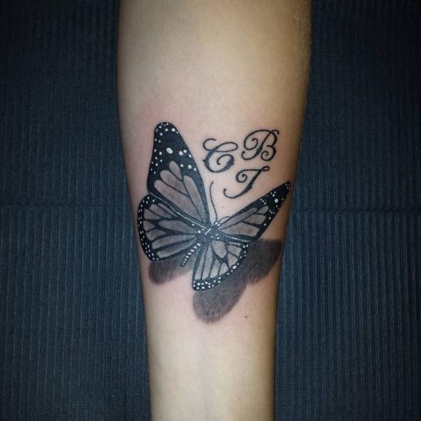 Black Butterfly 3D Tattoo