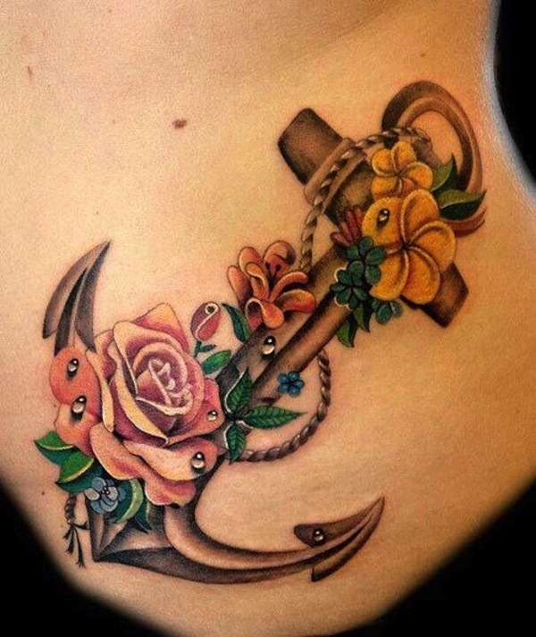 Female Anchor Tattoos