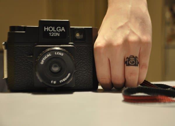 Finger Camera Tattoo
