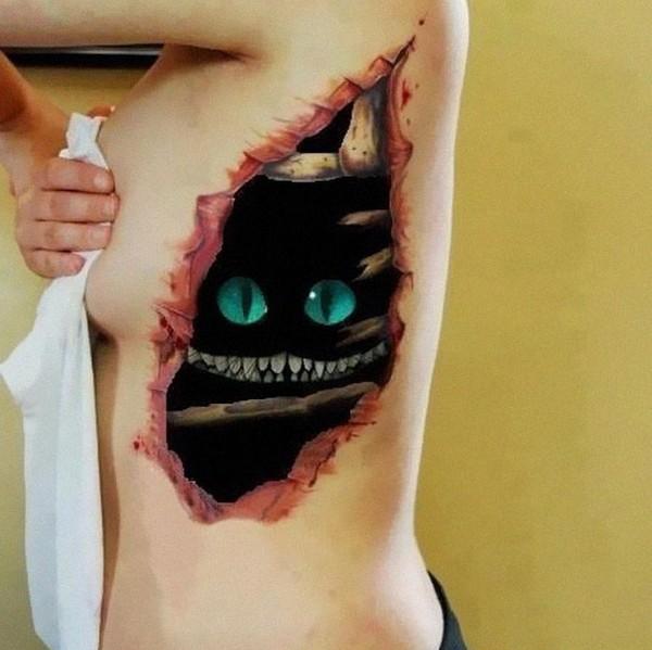 Frightening 3D Tattoos
