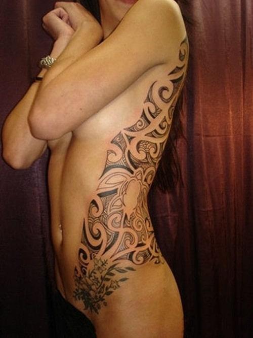 Girly Tribal Tattoos on Body