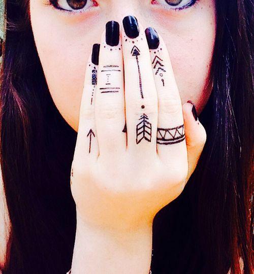 Hand Tribal Tattoos
