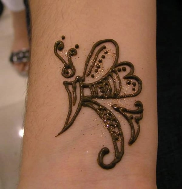 Henna Butterfly Tattoo