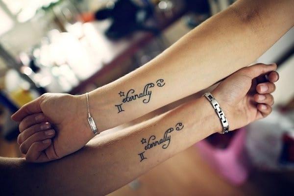 Lovely Sister Tattoos Ideas