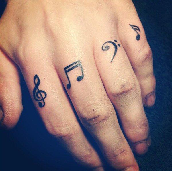 Music Finger Tattoo