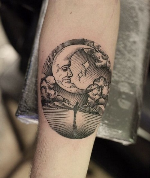 Poetic Moon Tattoos