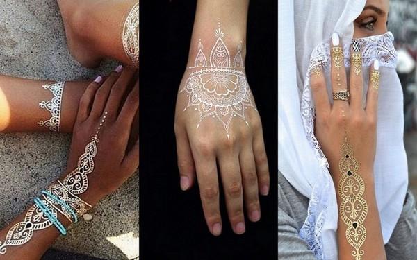 Trending White Henna Tattoos