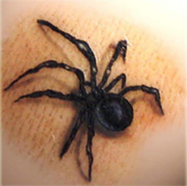 Black Widow Small Tattoo