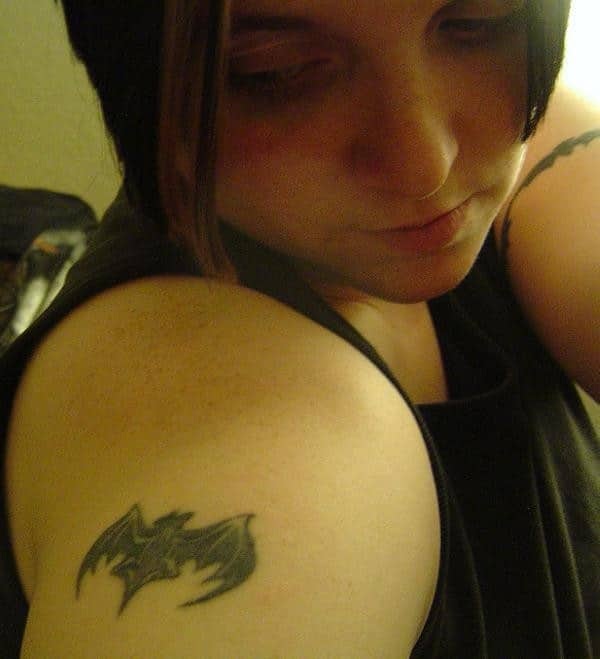 Miniature Bat Tattoo