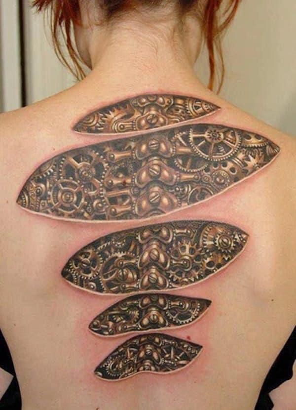 3D Spinal Tattoo