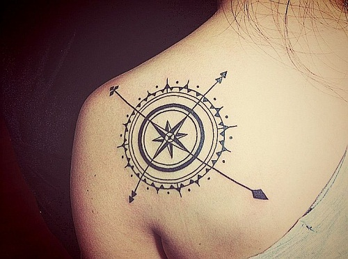 Awesome Compass Inspiration Tattoo