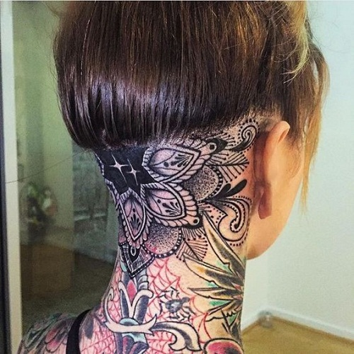 Awesome Neck Tattoo Designs