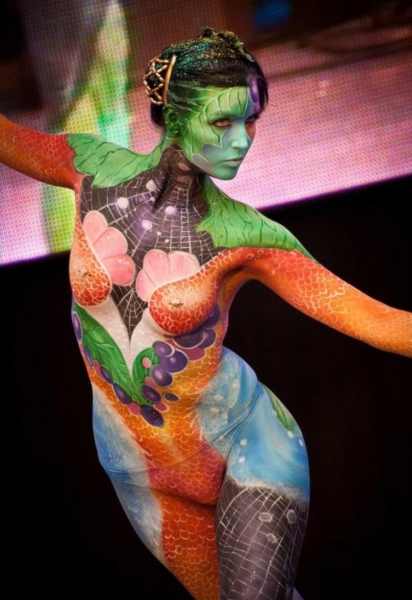 Impactantes postales del Festival de body painting