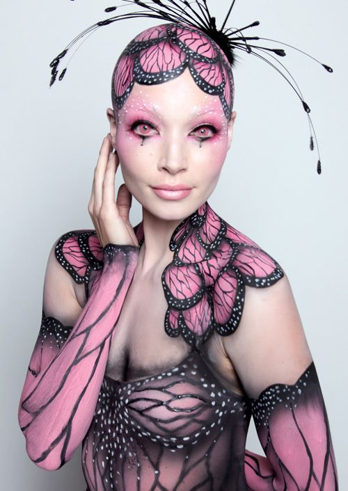 Butterfly Body Paint Model