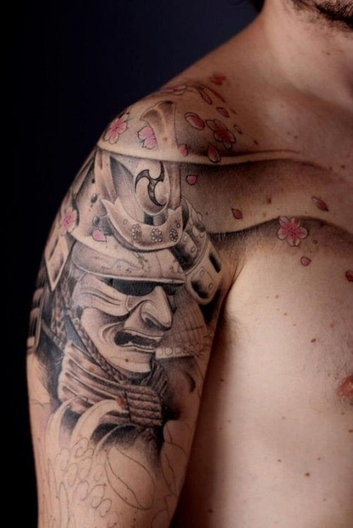 Cherry Blossom and Samurai Tattoo