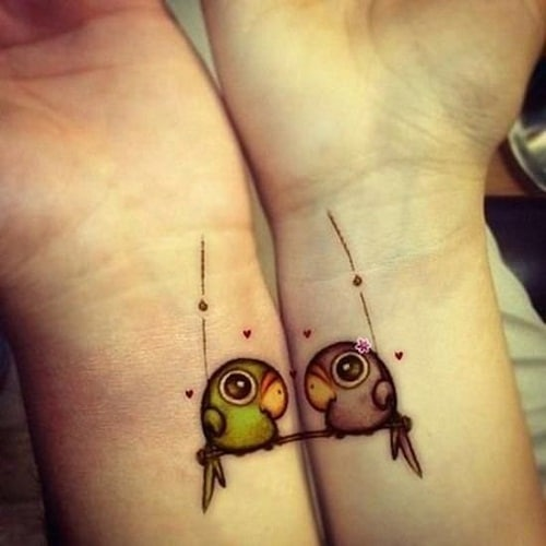 Colorful Arrow Friendship Tattoos