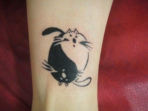 Creative Yin Yang Tattoo