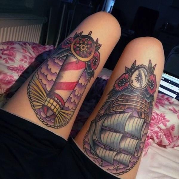 Cute Thigh Tattoos For Women