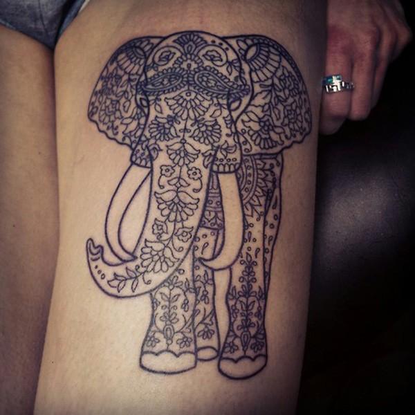 Elephant And Baby Tattoo