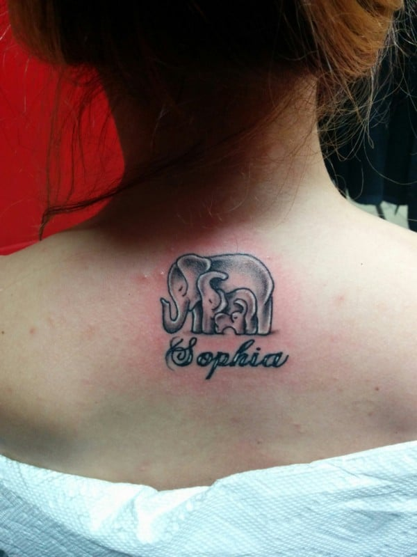 Elephant Family Tattoos