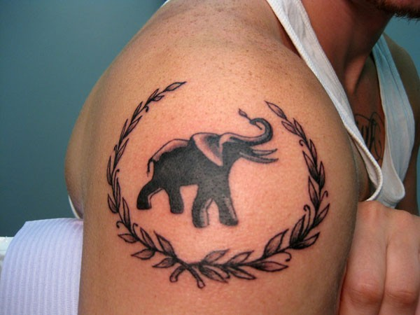 Elephant Tattoo Flash