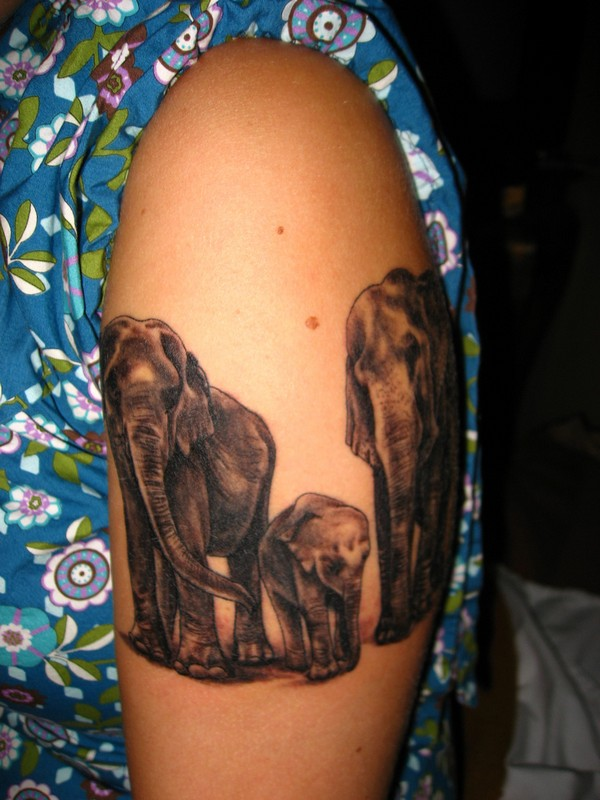 Elephant Tattoo For Women