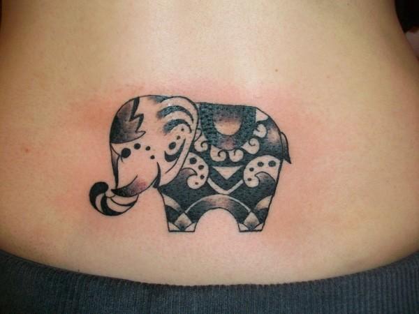 Elephant Tattoo On Back