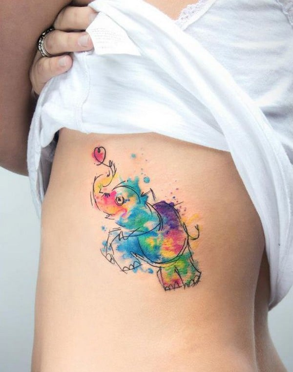 Elephant Tattoo Small