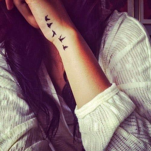 Flying Bird Tattoos on Hand