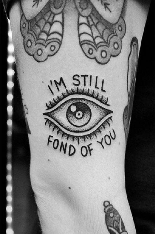 Fond on You Eye Tattoo Idea