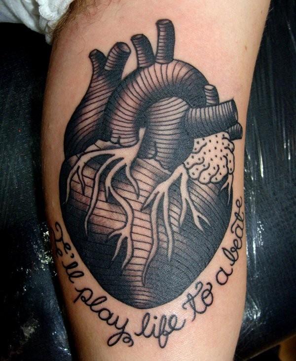 Heart Tattoos Men
