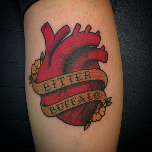 Lovely Heart Tattoos
