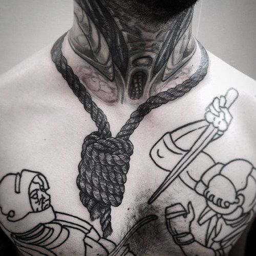 Rope on Neck Tattoo