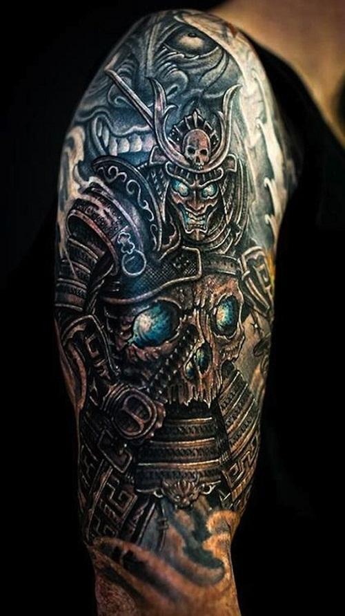 Samurai and Skull Tattoo