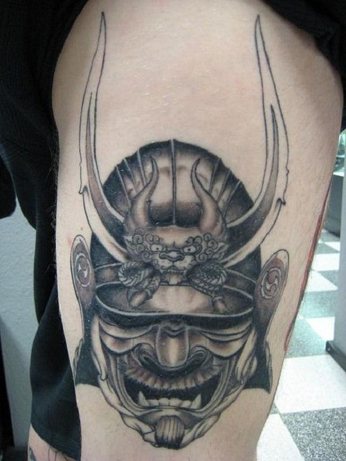 Samurai Warrior Mask Tattoo