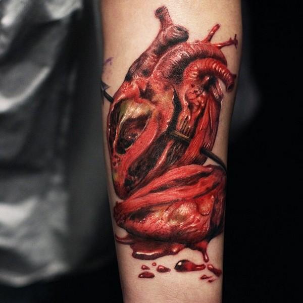 Small Heart Star Tattoos