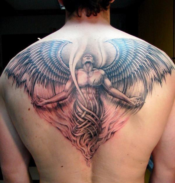 Angel Tattoos Men